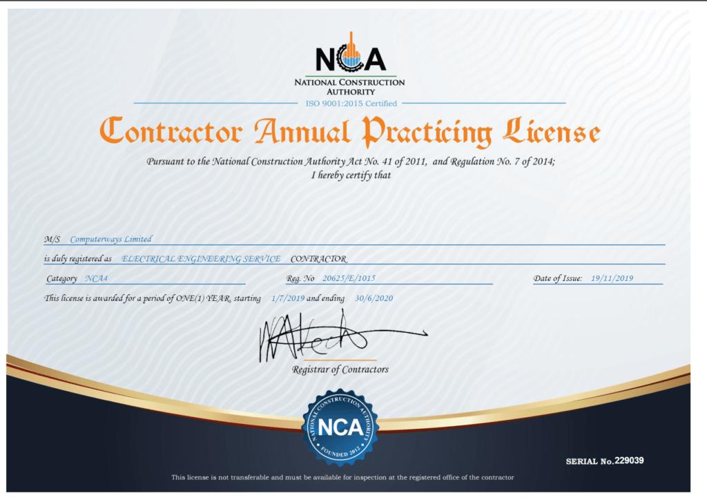 NCA License
